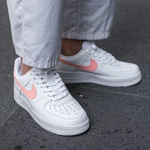 Nike Air Force 1 07 女子 休閒板鞋 白粉色 小清新 時尚 百搭-熱銷推薦❤️