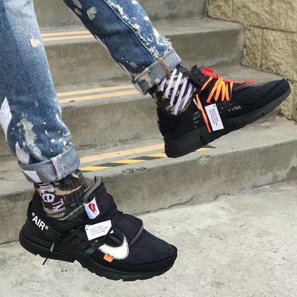 Off White x Nike Air Presto 2代 魚骨鞋 全黑 男款 慢跑鞋-秒殺款❤️