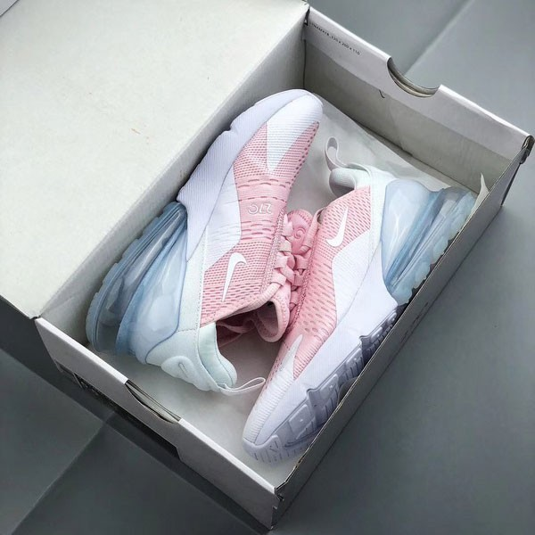 Nike Air Max 270 半掌氣墊跑步鞋 白粉色 女鞋 運動 休閒-貨到付款❤️