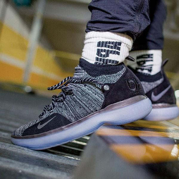 Nike Zoom KD11 籃球鞋 灰黑色 男款 飛線 防滑 耐磨-超值人氣❤️