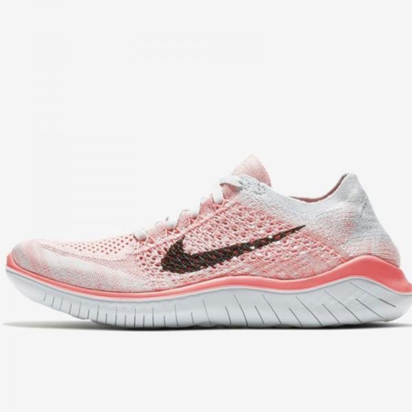 Nike Free rn Flyknit 2018款 女子 赤足 輕便 飛線 粉色 跑步鞋-限時特賣❤️