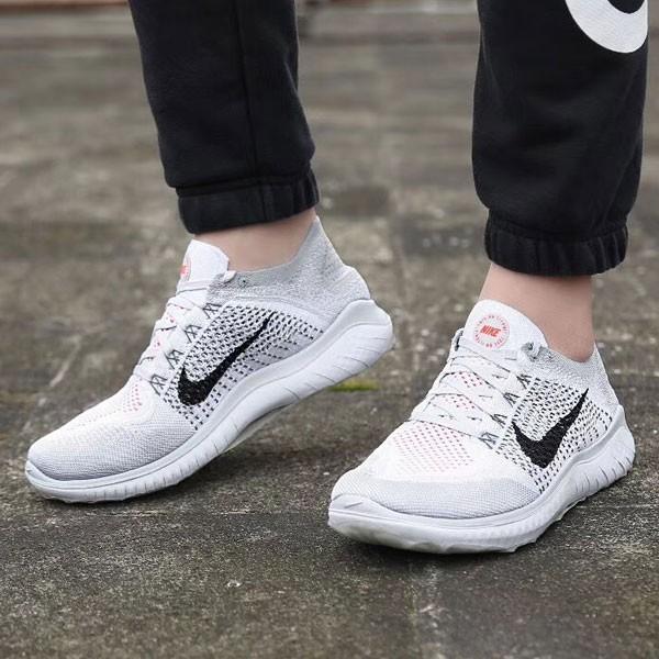 Nike Free Flyknit 5.0 赤足 淺灰色 男款 飛線 透氣 慢跑鞋-新品駕到❤️