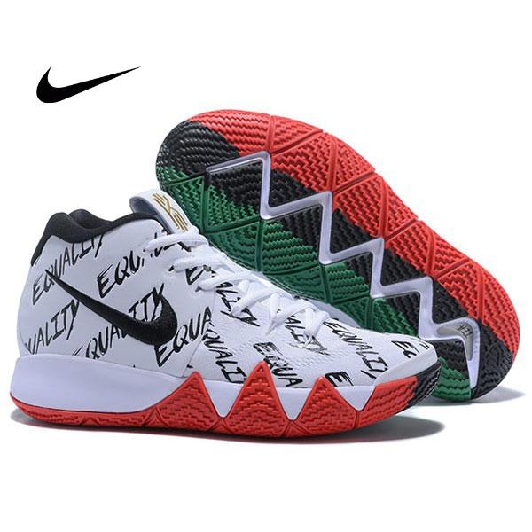 Nike Kyrie 4 黑人月 高筒 實戰 籃球鞋 男款 白紅色 時尚穿搭-最高品質❤️