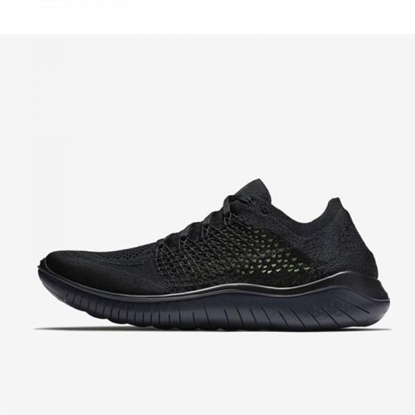 Nike Free rn Flyknit 2018款 男子 赤足 輕便 飛線 全黑 跑步鞋-限時特賣❤️