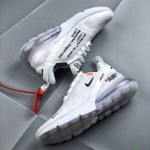 89ff5ec1df9d8875 300x300 - OFF White x Nike Air Max 270 聯名 情侶款 白色 半掌氣墊慢跑鞋-現貨限量❤️