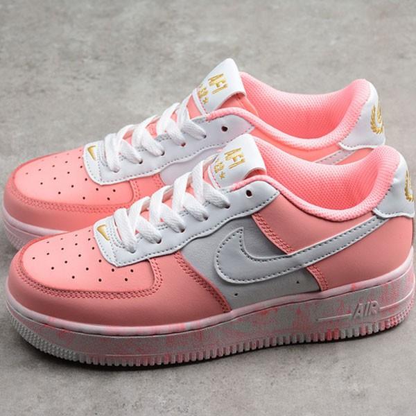 Nike Air Force 空軍一號 低幫 休閒板鞋 粉白色 時尚 百搭-現貨秒殺❤️