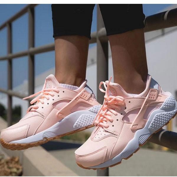 Nike Air Huarache Run Premium 華萊士 慢跑鞋 粉橘白 女款 休閒-超熱賣❤️