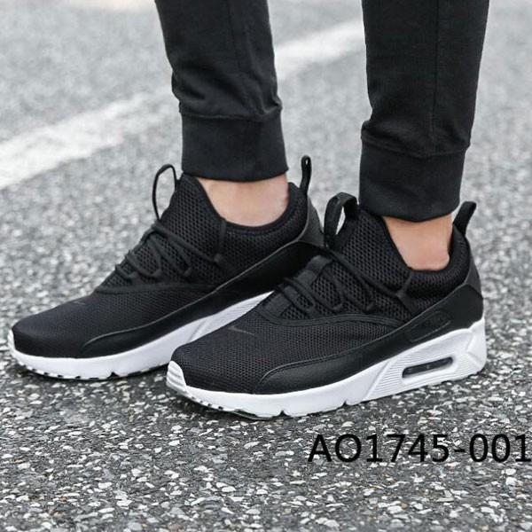 Nike Air Max 90 ez 網面 透氣 緩震 復古 氣墊 男子跑步鞋 黑色-現貨限量❤️