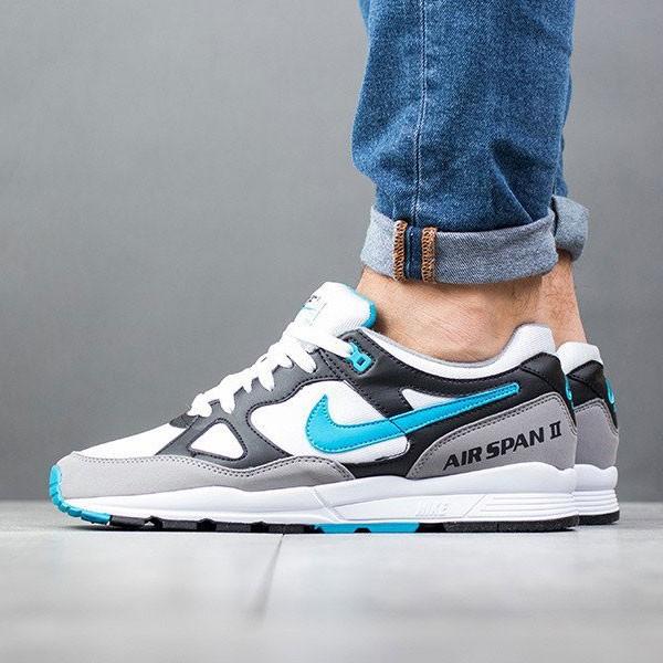 Nike air span 2 男子 跑步鞋 黑白灰 藍鉤 透氣 舒適 時尚-熱銷推薦❤️