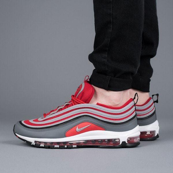 Nike Air Max 97 全掌氣墊慢跑鞋 灰紅色 情侶款 休閒 時尚 新品-熱銷推薦❤️