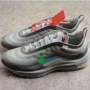 a04bbce5f2949e42 300x300 - Off White ow x Nike Air Max 97 子彈 慢跑鞋 情侶款 灰色 新款-超值人氣❤️