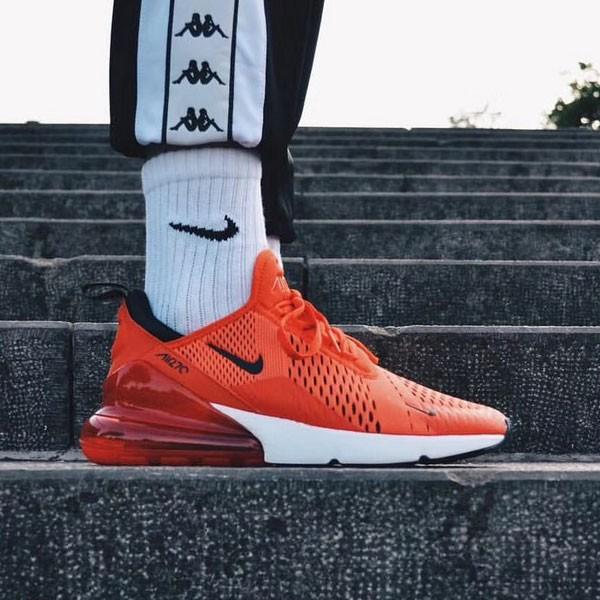 Nike Air Max 270陳冠希同款 大紅 半掌氣墊慢跑鞋 情侶款-最高品質❤️