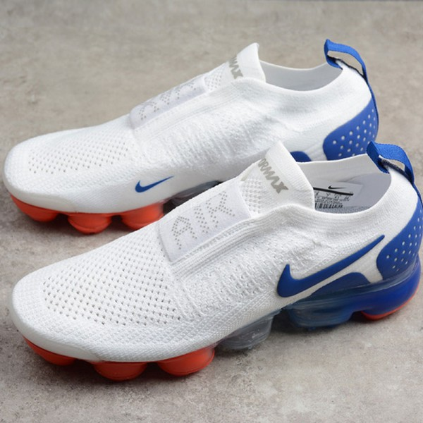 Nike air vapormax flyknit 2代 全掌氣墊慢跑鞋 無帶 白藍色 情侶-超熱賣❤️