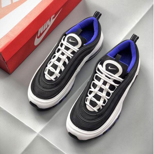 Nike Air Max 97系列 男款 復古 全掌氣墊 慢跑鞋 黑白色 潮搭-秒殺款❤️