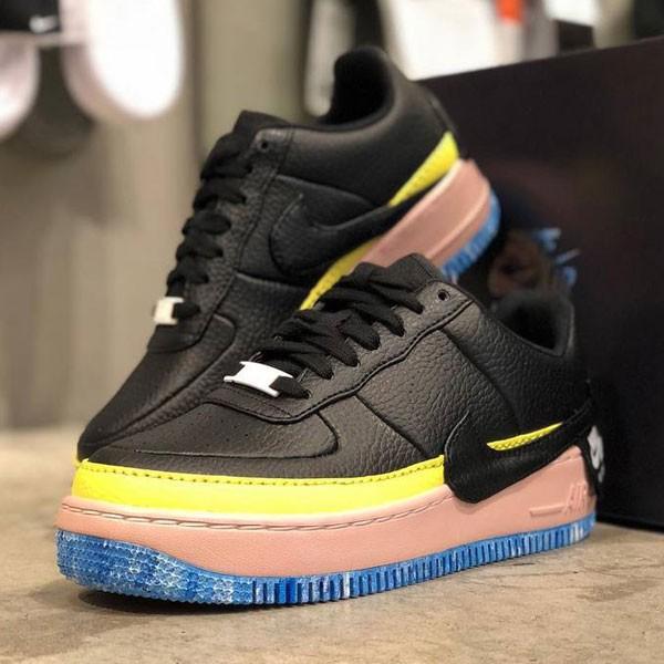 Nike Air Force 輕量 低幫 百搭 休閒板鞋 女款 黑黃藍 潮流-新品駕到❤️