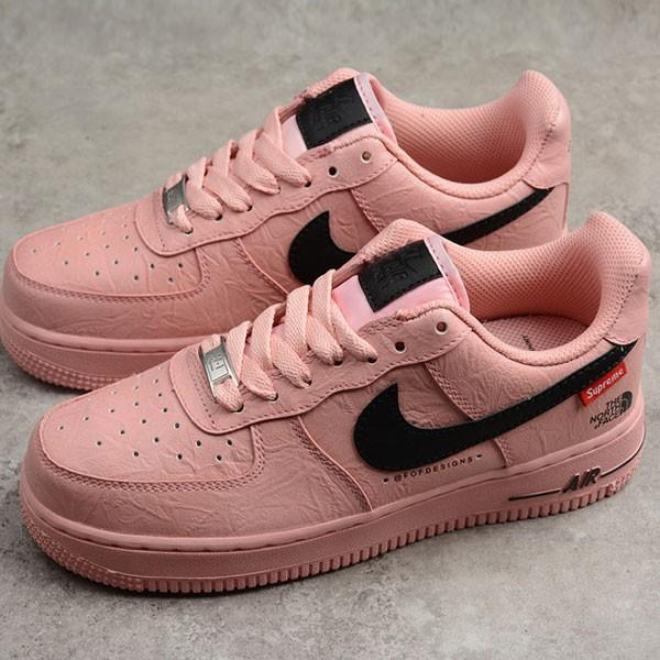 Supreme x Nike Air Force 1 聯名款 粉色 女鞋 休閒 潮流 新品-限時特賣❤️