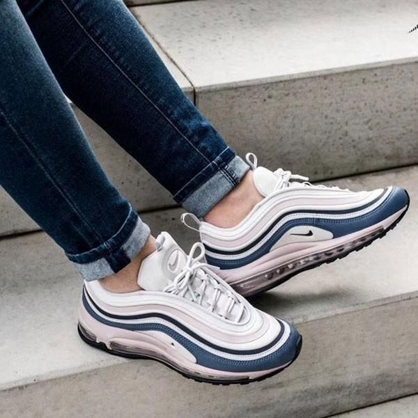 Nike Air Max 97 女子 白藍粉 全掌氣墊慢跑鞋 潮流 新款-熱銷推薦❤️
