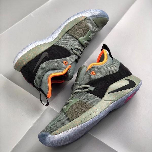 NIKE SONY PlayStation 喬治保羅二代 男子籃球鞋 綠色 耐磨 -熱銷推薦❤️