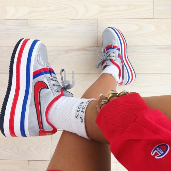 Nike Vandal 2k Surprise 女鞋復古增高厚底松糕鞋 灰藍紅-現貨預購❤️
