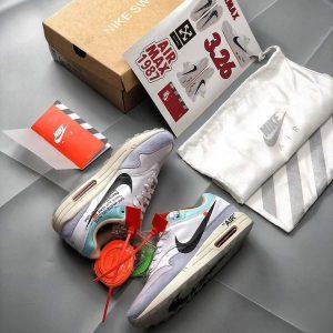 d1eee6552ccd06bb 300x300 - Off white X Nike Air Max 1 聯名定制 男款 灰色 氣墊慢跑鞋 潮流-超級人氣❤️