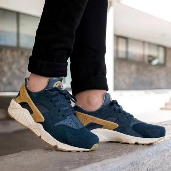 Nike Air Huarache Run SE 華萊士 復古慢跑鞋 男鞋 深藍色 新品-獨家發售❤️