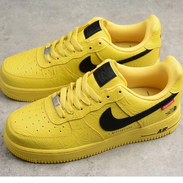 Supreme x Nike Air Force 1 聯名款 男女鞋 黃色 休閒 潮流 新品-熱銷推薦❤️