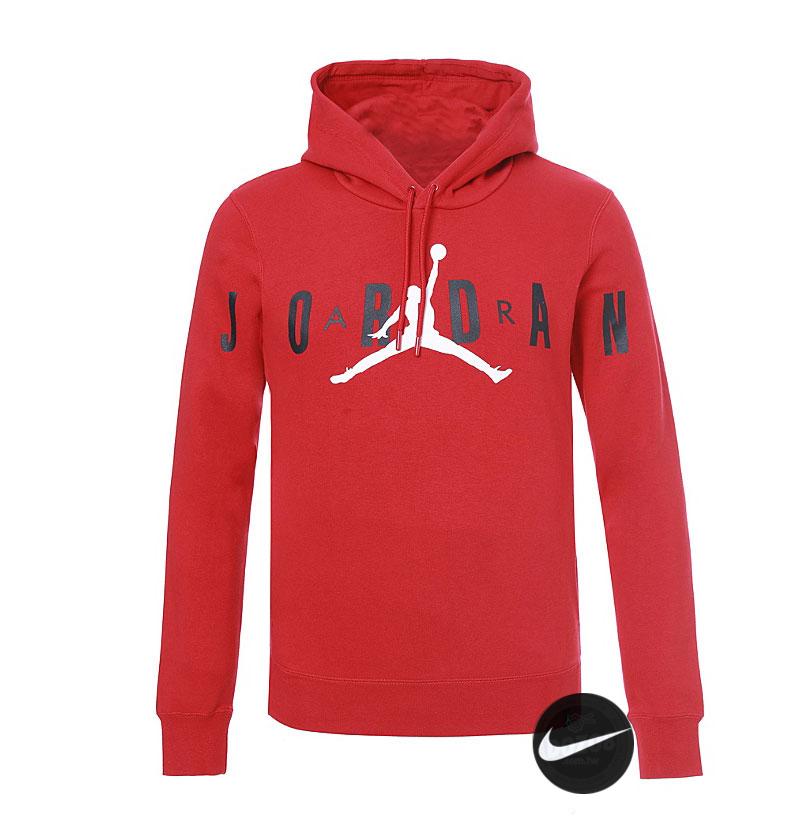 Air Jordan 運動衛衣 連帽衛衣 籃球服 加厚 红色 潮流 百搭-現貨秒殺❤️