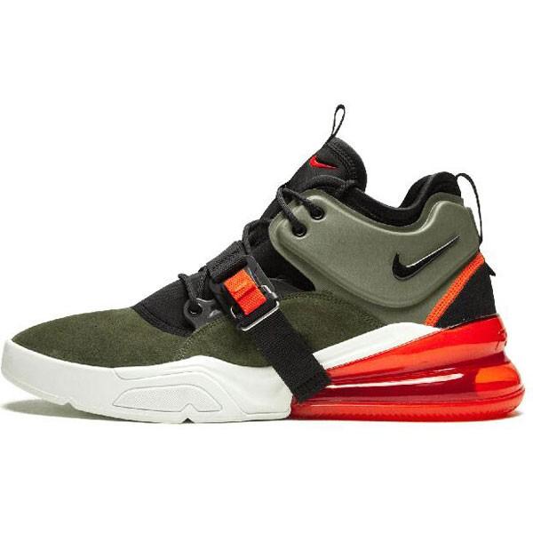 Nike Air Max 270 機能半掌氣墊 跑步鞋 男款 軍綠色 時尚-最高品質❤️