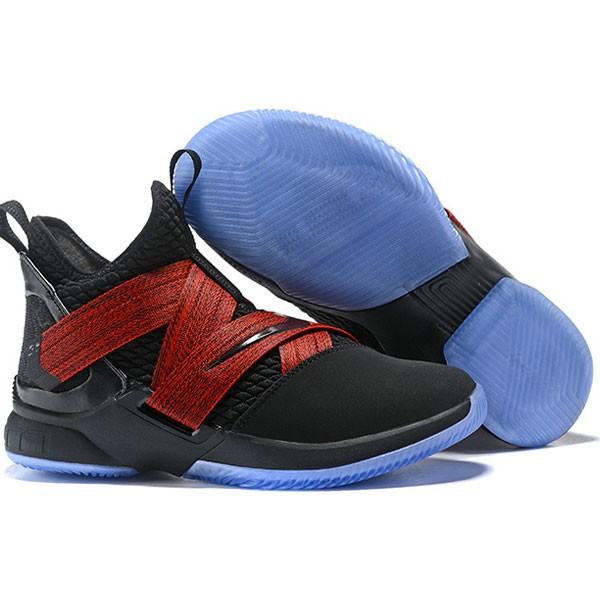 LeBron Soldier XII 詹姆斯 戰士 12代 士兵 中筒籃球鞋 男款 黑紅 透氣 新品❤️