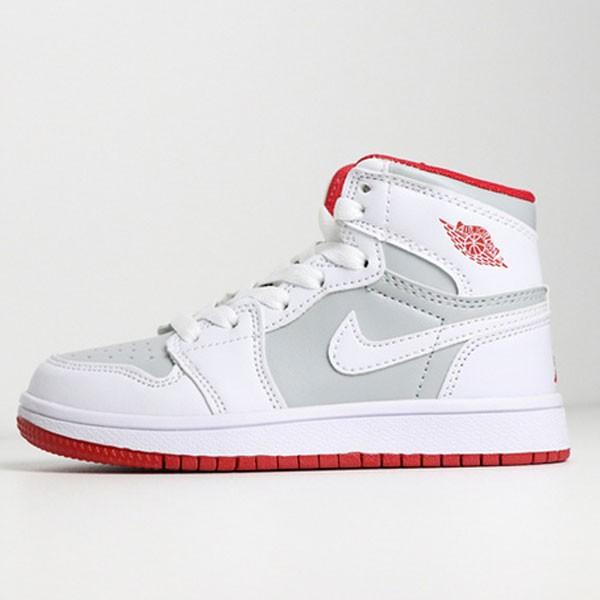 喬登1代高幫童鞋系列 Air Jordan 1 喬1白灰 28-35