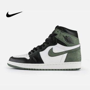 1 300x300 - Air Jordan 1 Mid E3 Green 喬丹1代 黑白綠 高筒籃球鞋 麂皮 時尚休閒 新品❤️