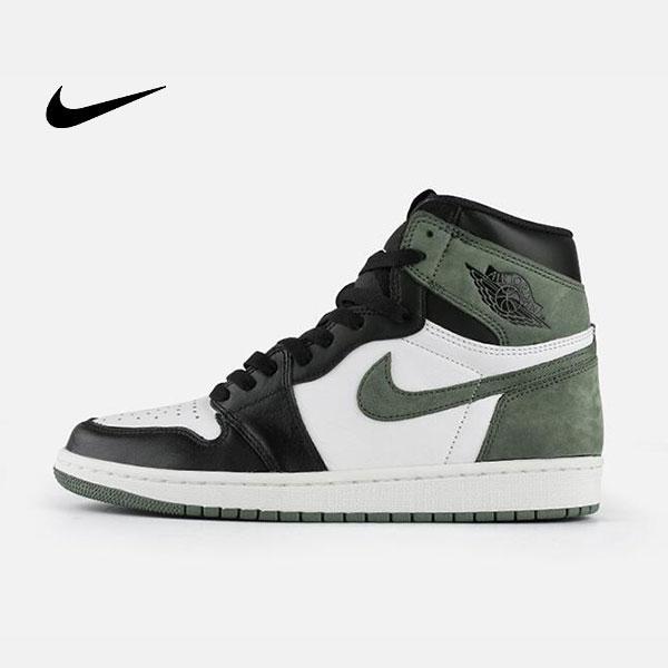 Air Jordan 1 Mid E3 Green 喬丹1代 黑白綠 高筒籃球鞋 麂皮 時尚休閒 新品❤️