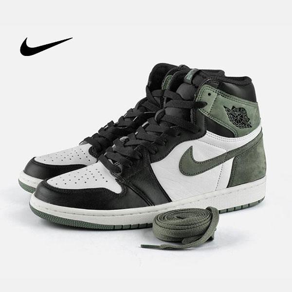 2 1 - Air Jordan 1 Mid E3 Green 喬丹1代 黑白綠 高筒籃球鞋 麂皮 時尚休閒 新品❤️