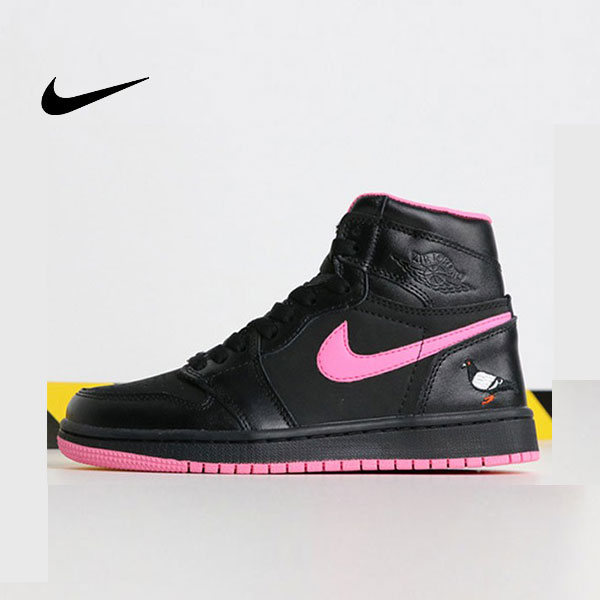 Air Jordan 1 喬丹1代 黑粉 鴿子刺繡 高筒 休閒運動鞋 時尚 百搭 熱銷推薦❤️