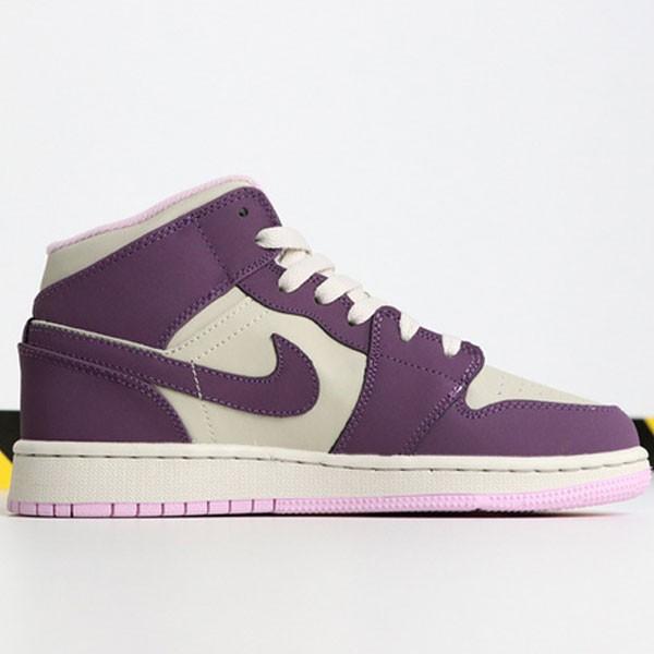 230b33af4674051c - Air Jordan 1 MID 555112-500 喬1中幫灰粉紫葡萄女款