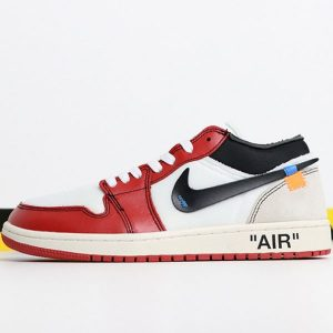 259c877209b74e73 300x300 - OFF-WHITE x Air Jordan 1 Retro High OG 10X AA3834-101 喬1低幫OFF聯名白紅男女款