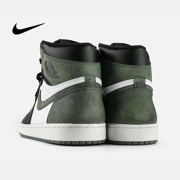3 - Air Jordan 1 Mid E3 Green 喬丹1代 黑白綠 高筒籃球鞋 麂皮 時尚休閒 新品❤️