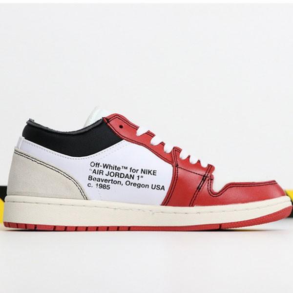 37a68e6c816147c0 - OFF-WHITE x Air Jordan 1 Retro High OG 10X AA3834-101 喬1低幫OFF聯名白紅男女款