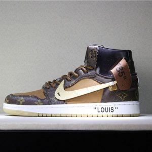 38450324ffb879e1 300x300 - Louis Vuitton x OFF-WHITE x Air Jordan 1 Louis卡其 男款貨號:AQ0818-202 喬1OFF三方聯名LV