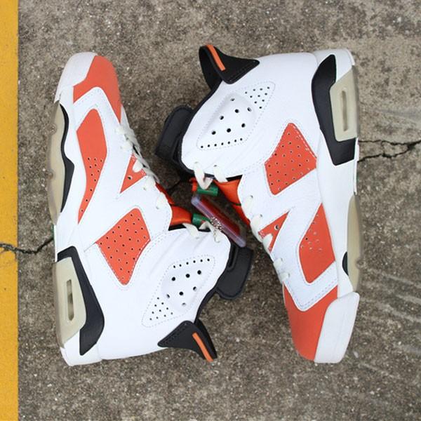 3e88eb88a0de82b8 - Air Jordan 6 Gatorade 384664-145 喬6白橙紅男款