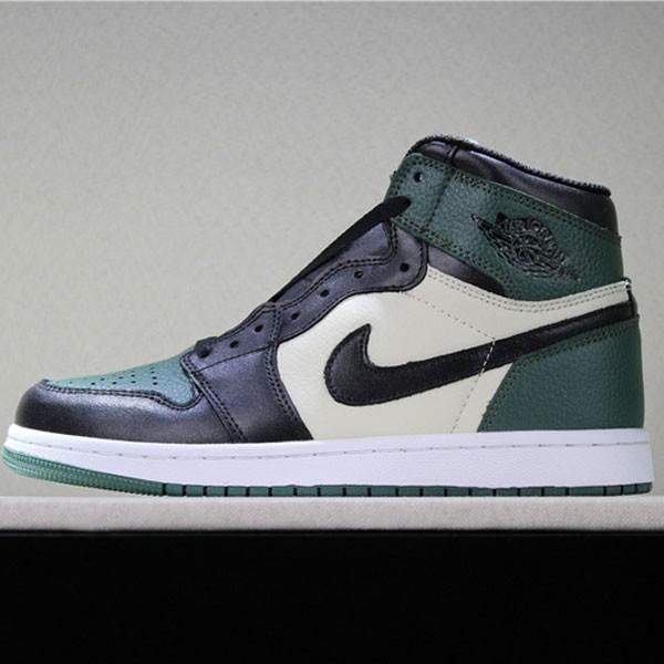 喬丹1代 Air Jordan 1 Pine Green 喬1黑綠腳趾男女款
