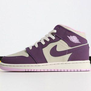 63ab5c43f8fdf0c8 300x300 - Air Jordan 1 MID 555112-500 喬1中幫灰粉紫葡萄女款