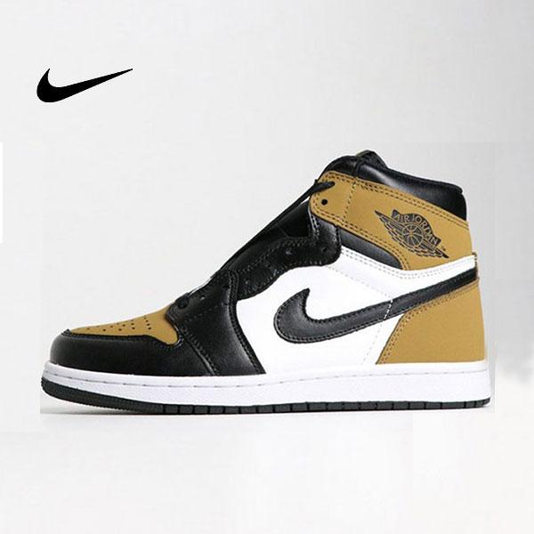 Air Jordan 1 喬丹1代 黑白黃 男女鞋 高筒 休閒運動鞋 品質嚴選 限時特賣❤️