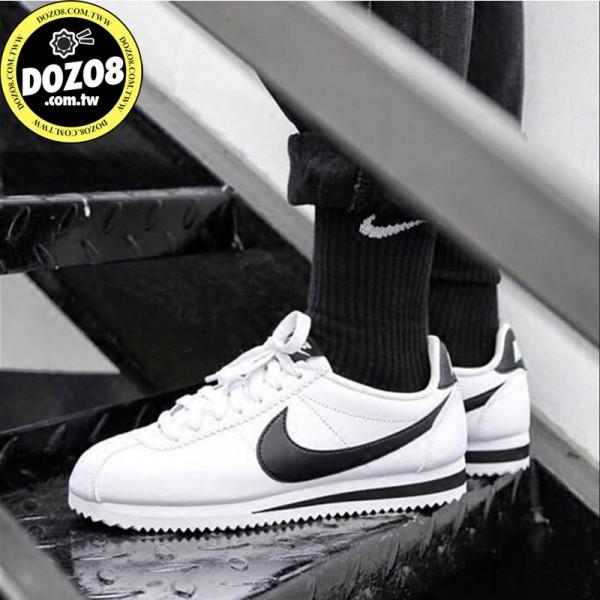 限時3天 Nike cortez 經典款 阿甘鞋 白皮面黑钩 819719-100- 耐吉官方網男女款