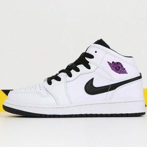 836c33d18e0934a8 300x300 - 喬丹1代系列中幫 Air Jordan 1 Mid 喬1中幫白紫葡萄女款