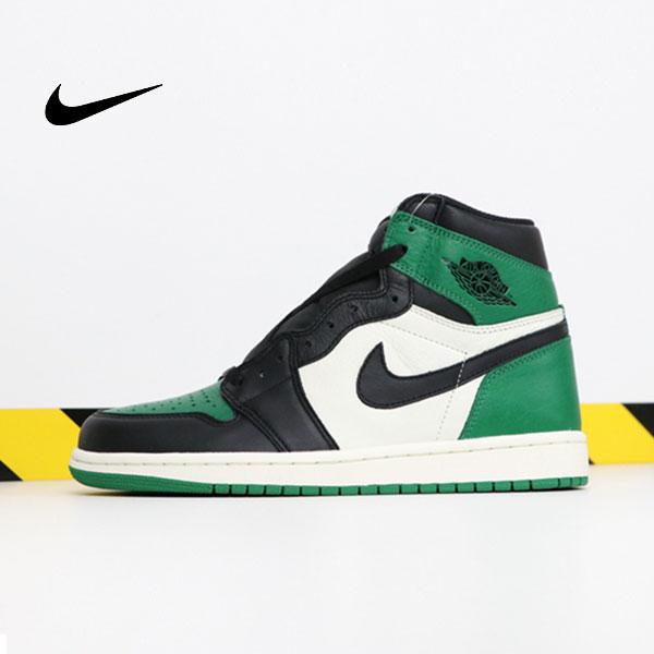 Air Jordan 1 Pine Green 喬丹1代 黑綠腳趾 男款 高筒 休閒籃球鞋 熱銷推薦❤️