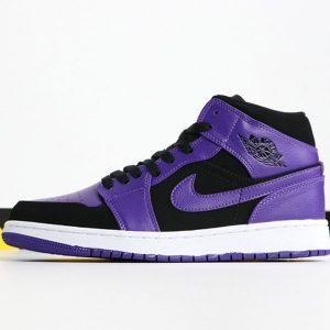 9663c90bf037f623 300x300 - Air Jordan 1 MID 554724-051 喬1中幫小黑紫腳趾男款