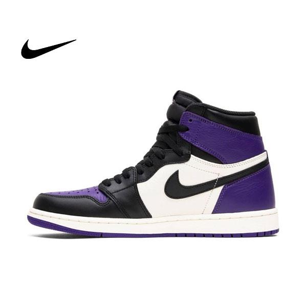 Air Jordan 1 Court Purple 喬丹1代 黑紫腳趾 高筒 休閒籃球鞋 男款 熱銷款❤️
