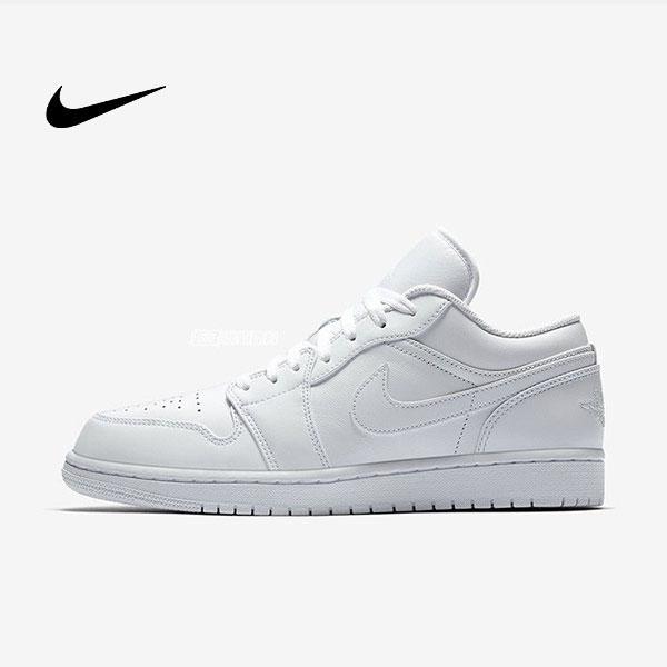 Air Jordan 1 Low Triple White 全白 低幫籃球鞋 休閒板鞋 男款 經典款 時尚❤️