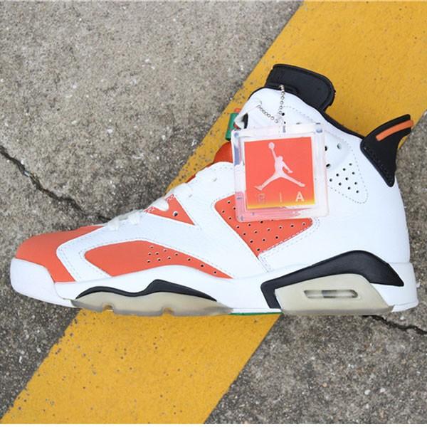 Air Jordan 6 Gatorade 384664-145 喬6白橙紅男款